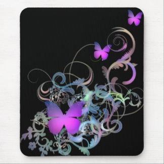 Borboleta roxa brilhante mouse pad