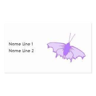 Borboleta roxa cartão de visita