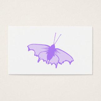 Borboleta roxa cartão de visitas