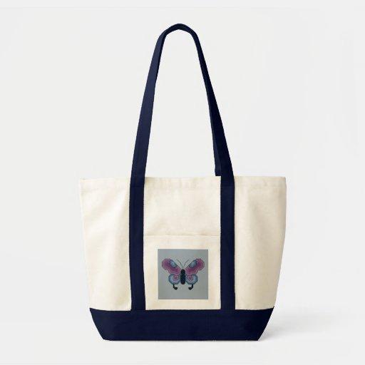 Borboleta roxa e azul bolsas