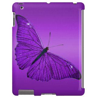 Borboleta roxa escura dos 1800s do vintage no roxo capa para iPad