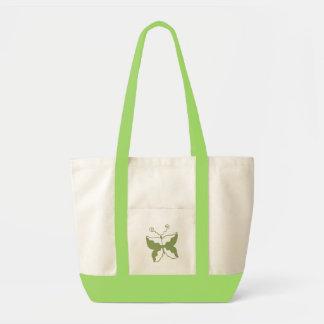 Borboleta verde bolsas de lona