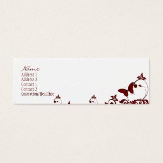 Borboleta vermelha cartão de visitas mini