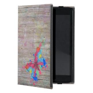 Borboleta vibrante bonito legal do vintage dos capa iPad mini