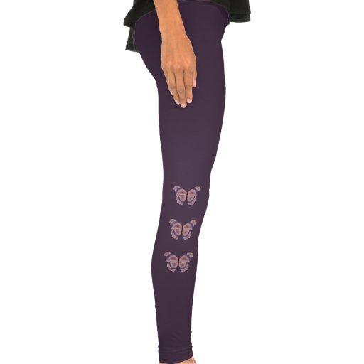 Borboleta violeta e malva calças apertadas