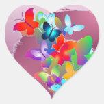 Borboletas Adesivos Em Forma De Corações