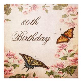 Borboletas aniversário do 80 da flor da amêndoa