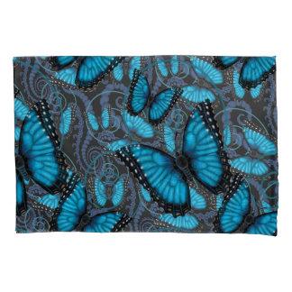 Borboletas azuis de Beaucoup Morpho