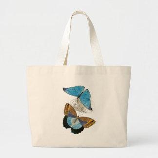 Borboletas - azul sacola tote jumbo