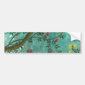 Borboletas bonitas da árvore da flor da antiguidad adesivo