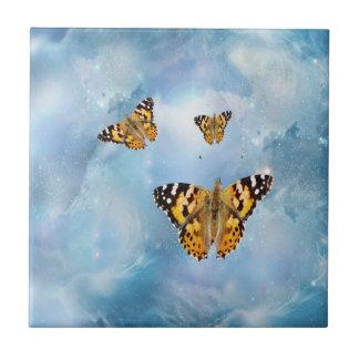 Borboletas bonitas azulejo de cerâmica