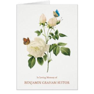 Borboletas & cartões de agradecimentos do funeral