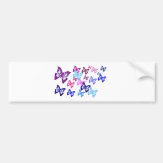 Borboletas coloridas adesivo