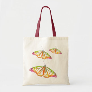 Borboletas coloridas bolsas para compras