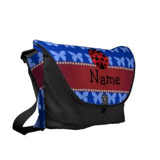 Borboletas conhecidas personalizadas do azul do bolsa mensageiro