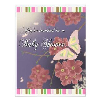 borboletas convite 10.79 x 13.97cm