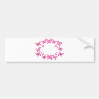 Borboletas cor-de-rosa e roxas adesivos