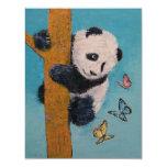 Borboletas da panda convite 10.79 x 13.97cm