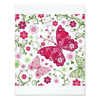 borboletas de COM do padrão Convite 10.79 X 13.97cm