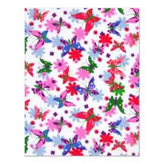 borboletas de COM dos padrões Convite 10.79 X 13.97cm