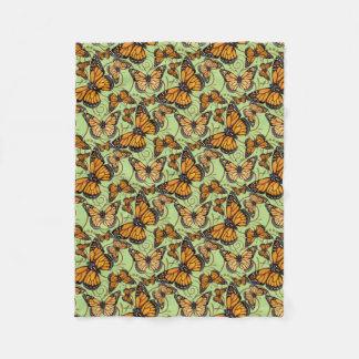 Borboletas de monarca cobertor de velo