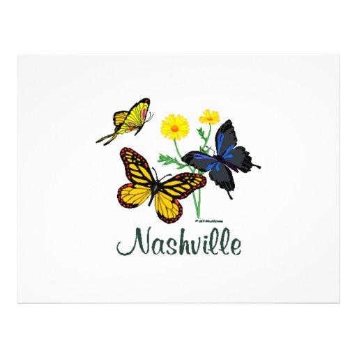 Borboletas de Nashville Modelo De Panfleto