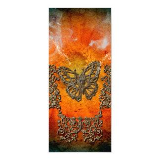 Borboletas decorativas convite 10.16 x 23.49cm