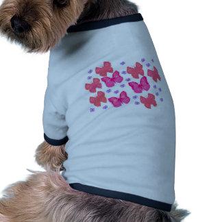 borboletas dig2 jpg camiseta para cães