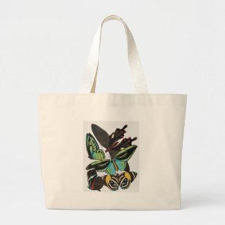 borboletas do art deco bolsa tote grande