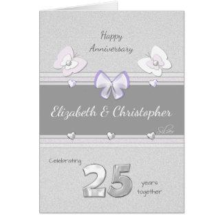 Borboletas do cartão do aniversário de casamento