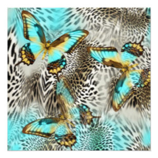Borboletas do impressão & da cerceta do leopardo foto