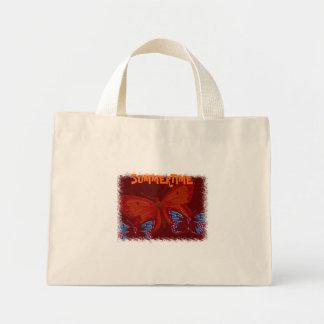 Borboletas do verão bolsa de lona