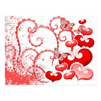 borboletas dos corações e de COM do imagem Cartão Postal