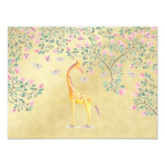 Borboletas e flor do girafa da aguarela foto