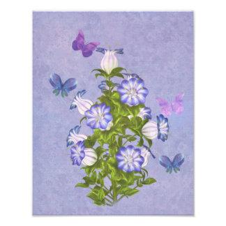 Borboletas e flores de Bell Impressão De Foto