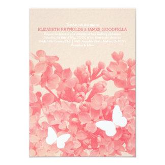 Borboletas elegantes que Wedding convites Convite 12.7 X 17.78cm