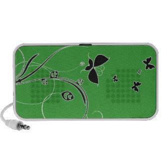 Borboletas esverdeados bonitas e redemoinhos caixinha de som para mp3