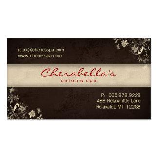 Borboletas florais Brown C do cartão de visita do