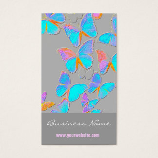 Borboletas ideais de On/Embossed-Like Cartão De Visitas