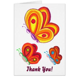 Borboletas Multicoloured, cartões de
