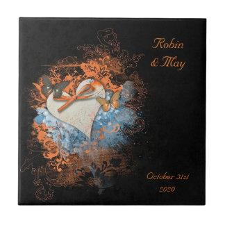 Borboletas no azulejo pagão do presente de Samhain