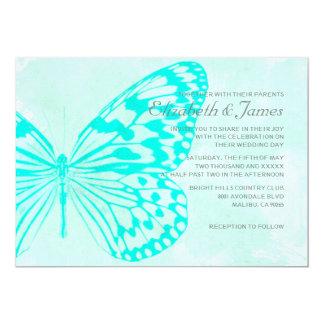 Borboletas que Wedding convites Convite 12.7 X 17.78cm