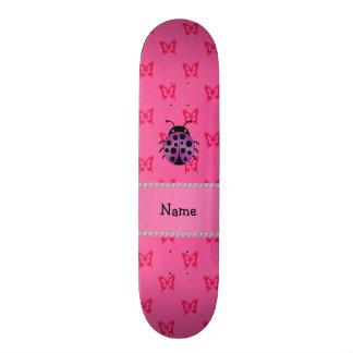 Borboletas roxas conhecidas personalizadas do rosa skate