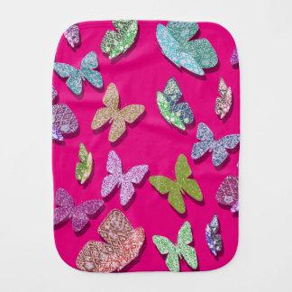 Borboletas Textured de vibração da cor da picareta Paninhos Para Bebês