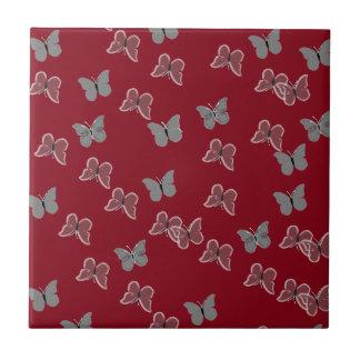 Borboletas vermelhas azulejos de cerâmica