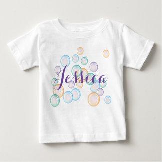 Borbulha a camisa, personaliza com seu nome camiseta para bebê