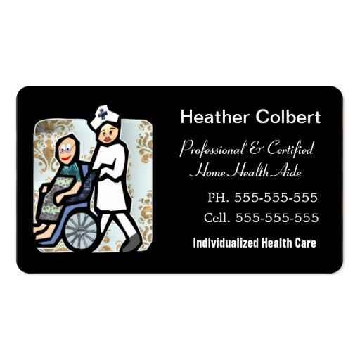 Borda arredondada profissional do cuidador modelo de cartões de visita