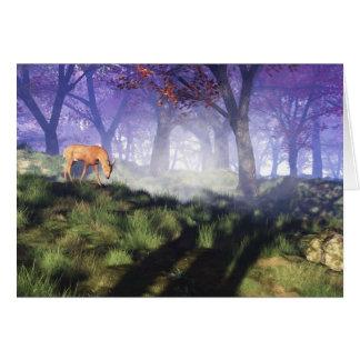 Borda da floresta cartão comemorativo
