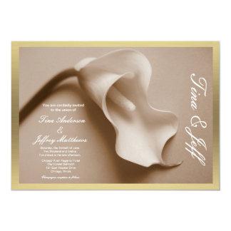 borda de porca jovem do convite do casamento do