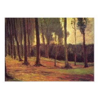 Borda de uma madeira por Vincent van Gogh Convite